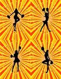 Cheerleader Background! Set Of 4! Vector / Eps 8 Royalty Free Stock Photos