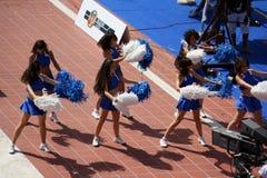Cheerleader bij de Kampioen van de Wereld Fina Stock Foto