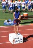 Cheerleader bij het Spel van de Voetbal Stock Foto