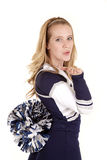 Cheerleader blow kiss Stock Photos