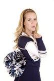 Cheerleader blow kiss Stock Photos