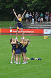 Cheerleader building  pyramid Stock Photography