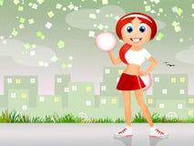Cheerleader cartoon Stock Photo
