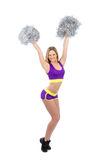 Cheerleader dancer girl dancing Stock Photo