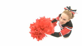 Cheerleader is dancing stock video
