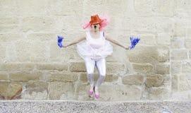 Cheerleader dancing Stock Photography