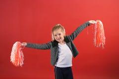 Cheerleader des kleinen Mädchens Stockfotografie