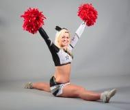 Cheerleader Doing The Splits Lizenzfreies Stockbild