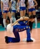 Cheerleader of Dynamo(MSC) team Royalty Free Stock Images