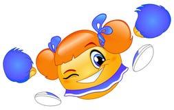 Cheerleader emoticon stock illustration