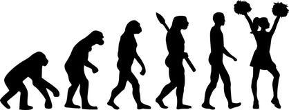 Cheerleader Evolution. Cheerleader dancing Evolution sports vector vector illustration