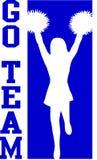 Cheerleader gaat Team Blue/EPS Royalty-vrije Stock Fotografie