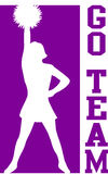 Cheerleader gaat Team Purple/EPS vector illustratie