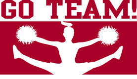 Cheerleader gehen Team-Kastanienbraun/ENV Lizenzfreie Stockfotografie
