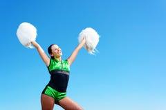 Cheerleader girl Stock Images