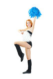 Cheerleader girl Royalty Free Stock Images