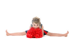 Cheerleader girl doing a split Stock Image