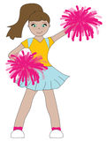 Cheerleader Girl Stock Photo