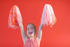 Cheerleader girl yelling Royalty Free Stock Photo