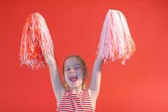 Cheerleader girl yelling. Shot of a cheerleader girl yelling Royalty Free Stock Photo