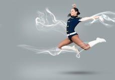 Cheerleader girl Royalty Free Stock Images