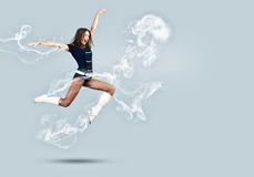Cheerleader girl Royalty Free Stock Photos