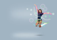 Cheerleader girl Royalty Free Stock Photography