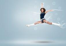 Cheerleader girl Stock Photos