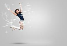 Cheerleader girl Stock Image