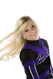 Cheerleader hair blowing Stock Images