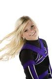 Cheerleader hair blowing stock images
