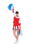 Cheerleader Holding Pom-pom Stock Photos