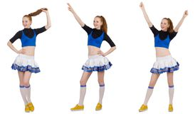 The cheerleader isolated on the white background Stock Photo