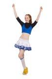 Cheerleader isolated Royalty Free Stock Image