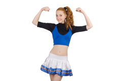 Cheerleader isolated Stock Images