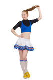 Cheerleader isolated Royalty Free Stock Images