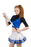 Cheerleader isolated Royalty Free Stock Photo
