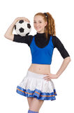 Cheerleader isolated Royalty Free Stock Photo