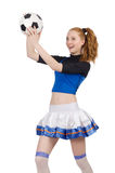 Cheerleader. Isolated on the white background Royalty Free Stock Image