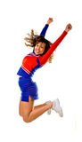 Cheerleader Jumping royalty free stock image