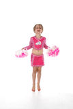 Cheerleader little girl Stock Photos