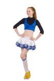 Cheerleader lokalisiert lizenzfreie stockbilder