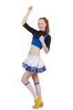 Cheerleader lokalisiert lizenzfreies stockfoto