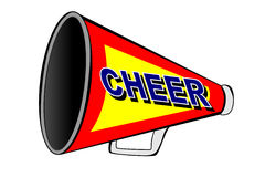 Cheerleader megaphone Royalty Free Stock Photos