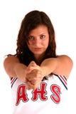 Cheerleader op Wit royalty-vrije stock afbeelding