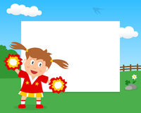 Cheerleader in the Park Horizontal Frame royalty free illustration