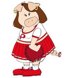 Cheerleader Pig. Stock Images