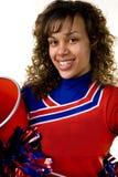 Cheerleader with pom poms Royalty Free Stock Photos
