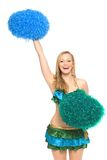 Cheerleader with pom-poms Royalty Free Stock Photo