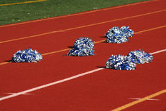 Cheerleader pom poms Royalty Free Stock Images
